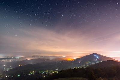 Northern Lights over Malvern Hills
