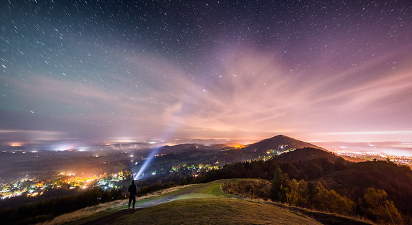 Northern Lights over Malvern Hills