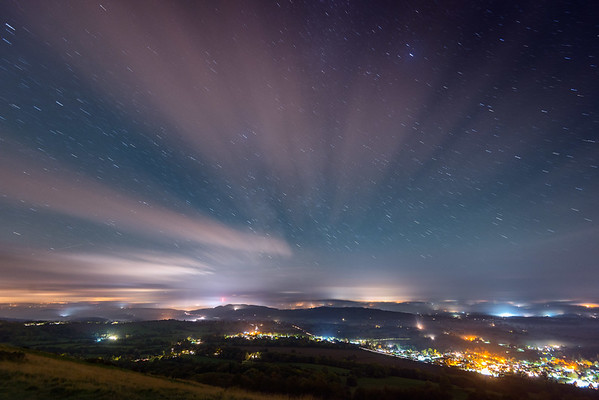 Northern Lights over Herefordshire