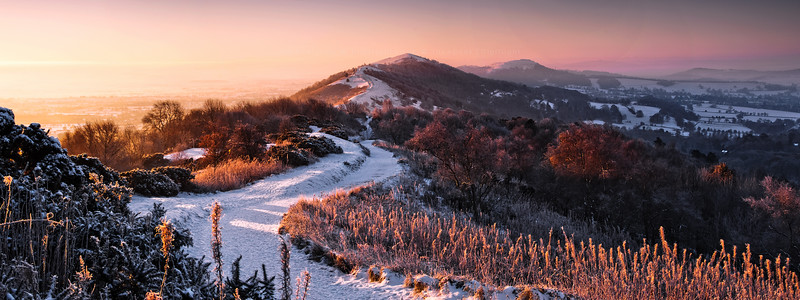 Sunrise Over Frozen Land - Malvern Hills