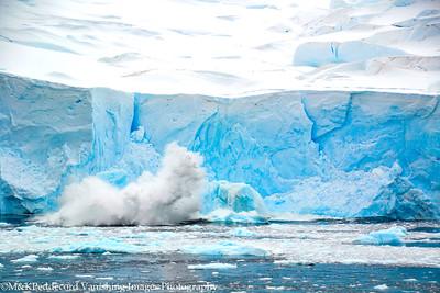 Caving glacier   viewed from  Danco Island
