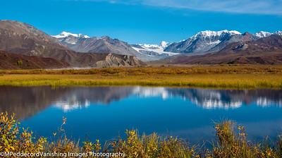 Delta River Pond with Gulkana Glacier Background