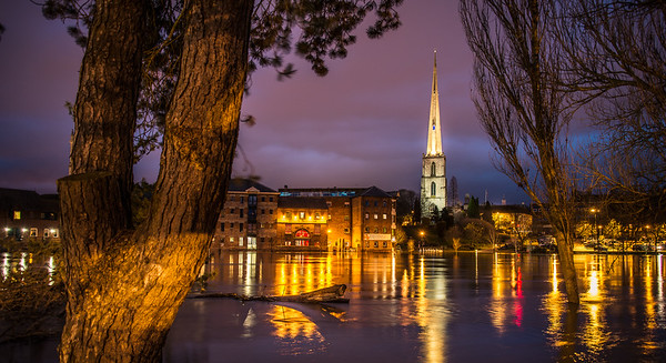 St Andrews Spire, Floods winter 2012