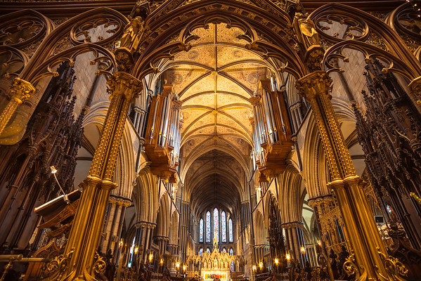 Golden Light, Worcester Cathedral interior