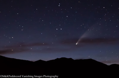 NEOWISE Comet from Grant Lake Overlook