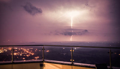 Lightning over Worcestershire
