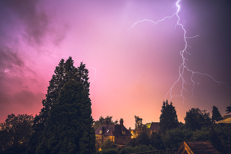 Lightning over Malvern