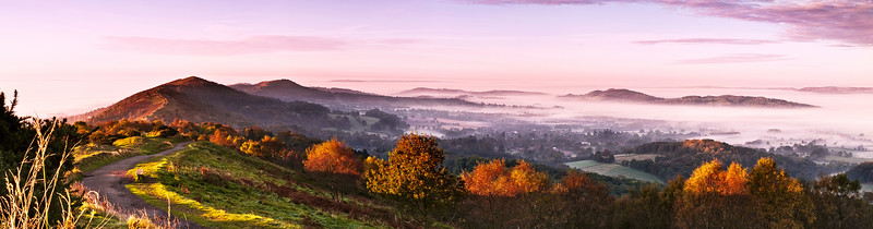 Autumn Morning - View from Worcestershire Beacon - Malvern HIlls