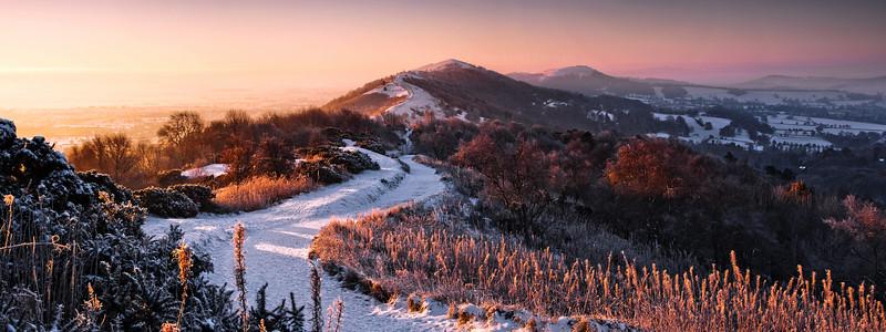 Sunrise Over Frozen Land - Malvern Hills
