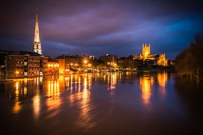 Winter floods 2012, Worcester