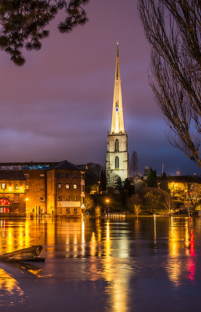 St Andrews Spire, Floods winter 2012