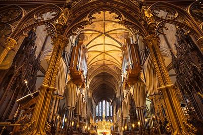 Golden Light, Worcestre Cathedral interior