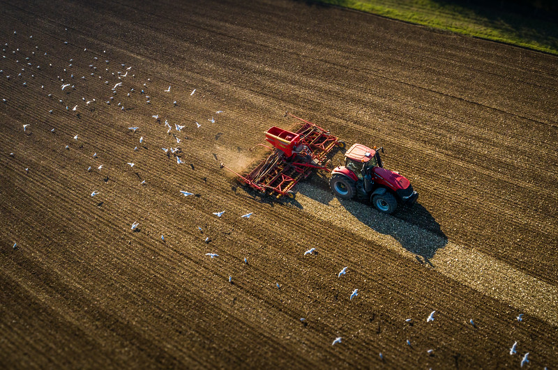 Aerial View of Farmer - (Drone Photography)
