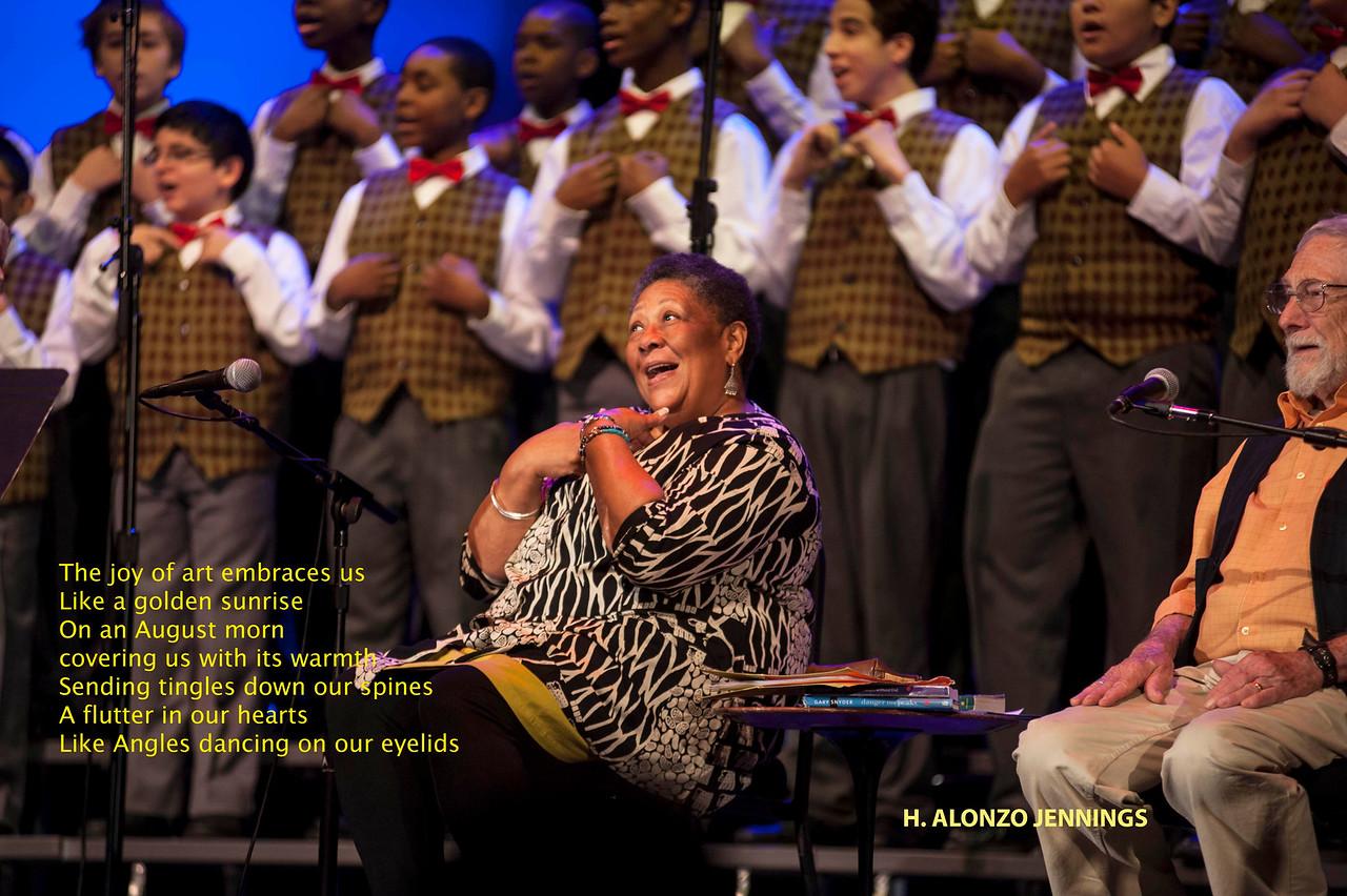 Marylyn Nelson, Newark Boys chorus, Gary Snyder
