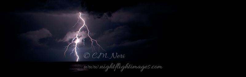 Storm over Lake Superior  © 2011 C. M. Neri. <br /> Whitefish Point, MI<br /> LIGHTNINGLONG
