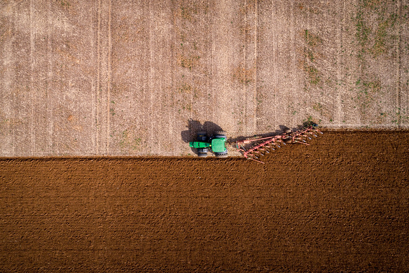 Aerial Drone Photography of Farmer