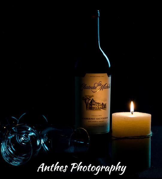 Creative wine bottle photography