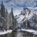 Half Dome Winter
