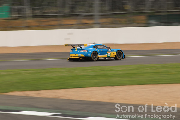 Aston Martin GTEpro heading thru Club