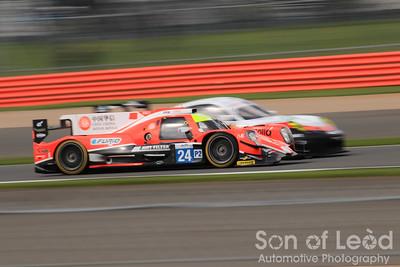 Manor Racing LMP2 passing the GTEpro Porsche