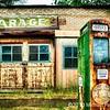 Sinclair Garage With Pump Closeup