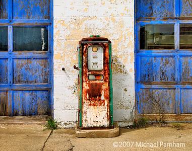 Blue Doors With Pump