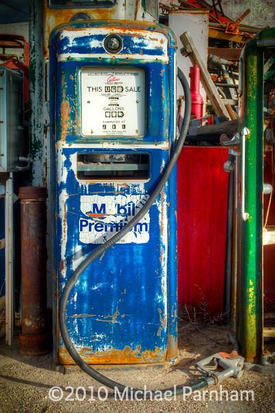 Blue Mobile Pump