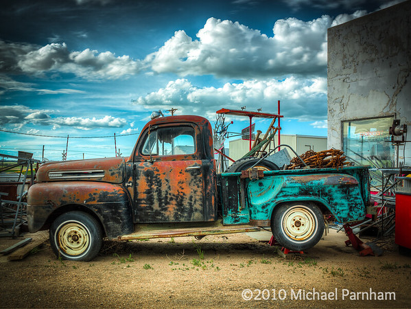 Jacked Up Ford Pickup, Southern Nebraska, 2010
