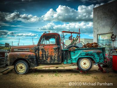 Jacked Up Ford Pickup, Southern Nebraska, 2010