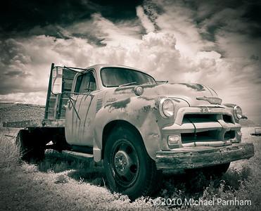 Sepia Truck