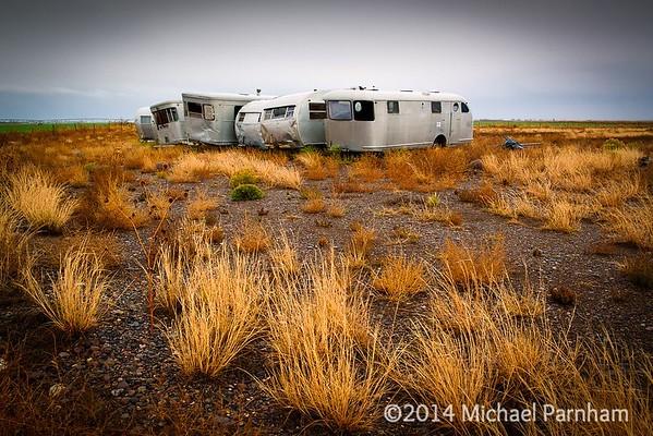 Abandoned Airstreams, southern CO.