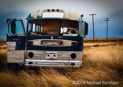 Abandoned Air Conditioned Bus, Southern Colorado