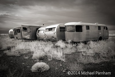 Abandoned Airstreams, southern CO.