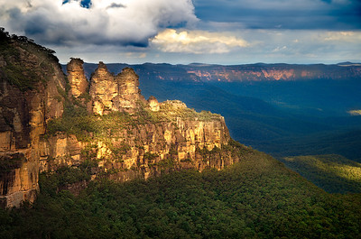 The Three Sisters at Dusk