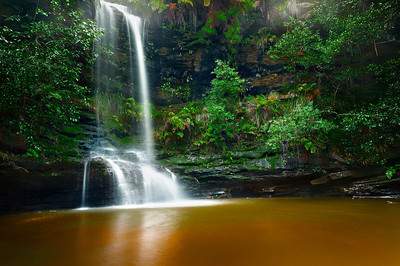After the Rains. St Michaels Falls, Blue Mountains NSW.