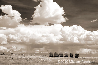 Pump Trucks With Clouds