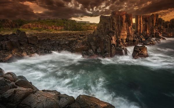 Dawn Against the Bombo Ruins. Kiama NSW.