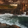 Dawn Against the Bombo Ruins. Kiama NSW.