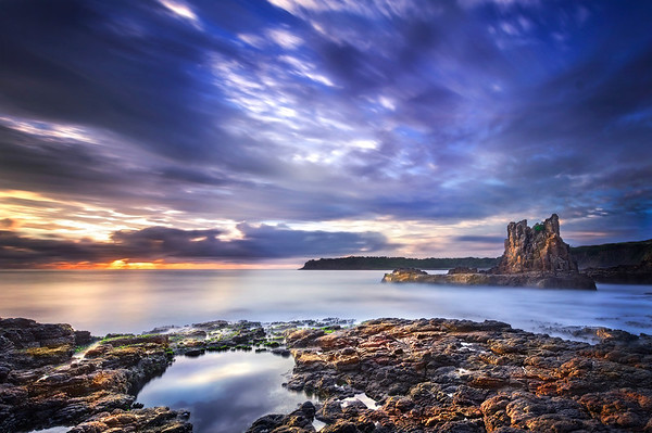 Reflections - Cathedral Rock, Kiama NSW.