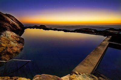 Pre-Dawn Blue Pool