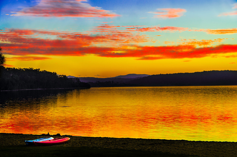 Lake Afire  - Wallaga Lake, NSW