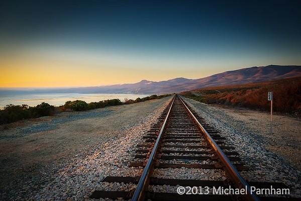 Jalama Tracks At Sunset