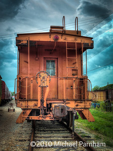 Moody Orange Caboose