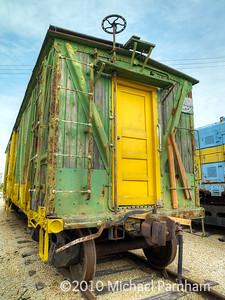 Green & Yellow Box Car