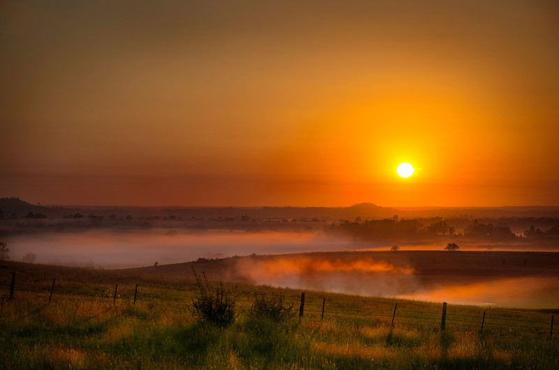 Foggy Sunrise - Cawdor