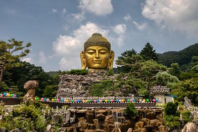 Golden Buddha Head