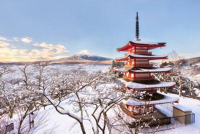 Winter Charm of Chureito | Japan
