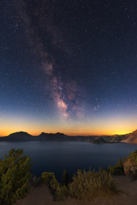 Milky Way Over Crater Lake | U.S.A