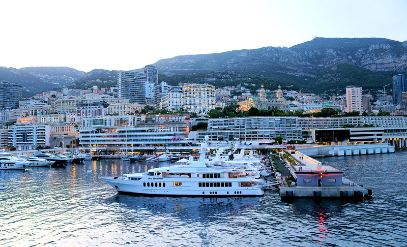 All the Monaco pictures were taken from the veranda of our room onboard ship.