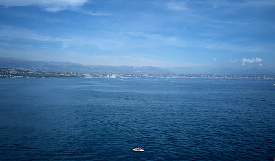 Antibes and a small boat